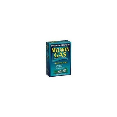 Mylanta Gas Simethicone Anti-Gas, Maximum Strength, Chewable Mint, 24 Count