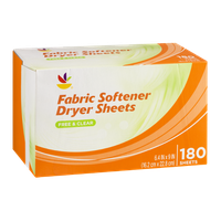 Ahold Fabric Softener Dryer Sheet Free & Clear - 180 CT