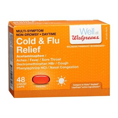 Walgreens Cold/Flu Relief Daytime Liquid Caps
