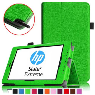 Fintie Folio Case Premium Leather Stand Cover with Stylus Loop for HP Slate 7 Extreme