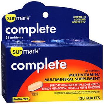 Sunmark Complete Multivitamin/Multimineral Supplement Tablets, 130 Tabs by Sunmark