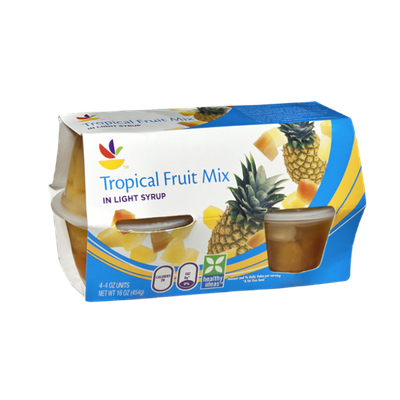 Ahold Tropical Fruit Mix in Light Syrup - 4 CT