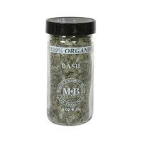 Morton & Bassett Organic Basil, .4-Ounce Jars (Pack of 3)