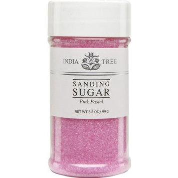 India Tree Pastel Sanding Sugar 10237 , Pink Strawberry