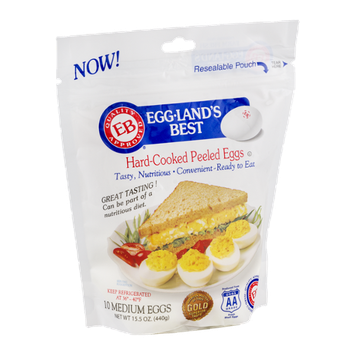 Eggland's Best Hard-Cooked Peeled Eggs Medium - 10 CT