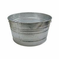 Magnolia Brush Galvanized Round Tubs - 48.61-qt. galvanized tub