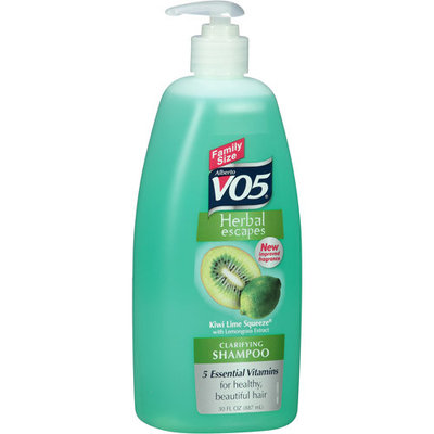 VO5 Herbal Escapes Kiwi Lime Squeeze Clarifying Shampoo, 30 fl oz