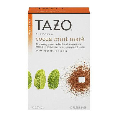 Starbucks Tazo Flavored Cocoa Mint Mate Herbal Tea Bags