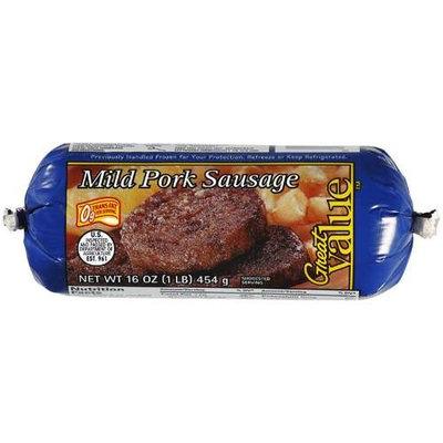 Great Value Mild Pork Sausage, 16 oz