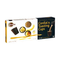 Dobla Dark Belgian Chocolate Cordial & Toasting Cups - 12 CT