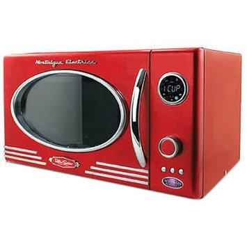 Nostalgia Electrics RMO-400BLK Retro Series .9 CF Microwave Oven