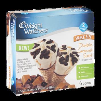 Weight Watchers Snack Size Double Caramel Swirl Ice Cream Cone - 6 CT