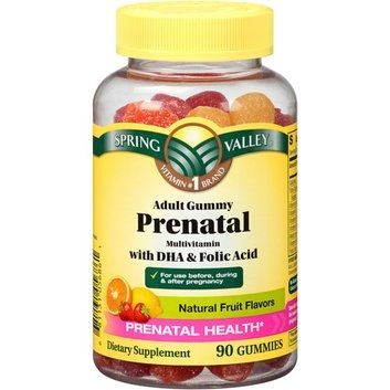 Spring Valley Adult Gummy Prenatal Multivitamin with DHA & Folic Acid
