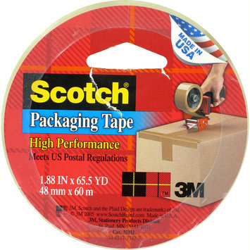3m Scotch SCOTCH PACKAGING TAPE 1.88 X 65.5 YDS - 3M COMPANY