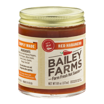 Bailey Farms Farm Fresh Hot Sauces Red Habanero