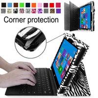 Fintie Premium Leather Folio Case for Microsoft Surface Pro / Surface Pro 2 Windows 8 Tablet 10.6 Inch, Zebra Black