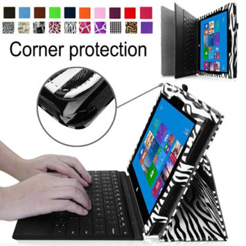 Fintie Premium Leather Folio Case for Microsoft Surface Pro / Surface Pro 2 Windows 8 Tablet 10.6 Inch, Zebra Black