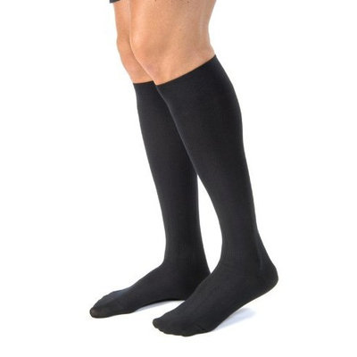 Jobst For Men Casual Compression Support Knee High 30-40mmHg, Small, Black