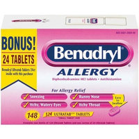 Allergy and Pain Relief Benadryl Allergy Tablets - 148 tablets
