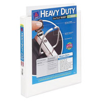 Avery Heavy Duty Clear Cover White Ring Binder