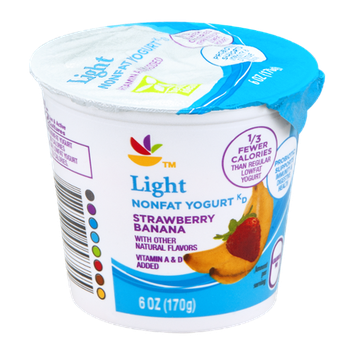 Ahold Yogurt Light Strawberry Banana Nonfat