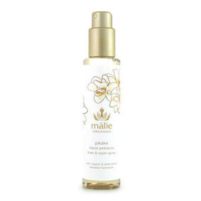Malie Organics Organic Island Ambiance Linen and Room Spray, Pikake, 5 oz