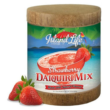 Island Life 2184033 15ct Strawberry Daiquiri Eco-Canister - 6 Packs