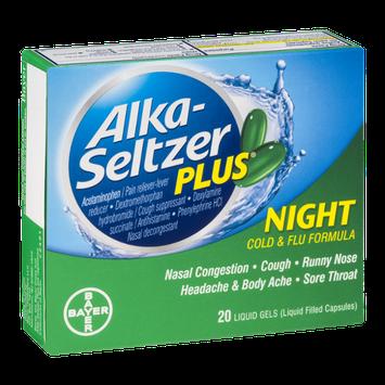Alka-Seltzer Plus Night Cold & Flu Formula Liquid Gels - 20 CT