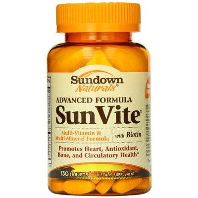 Sundown Naturals Advanced SunVite, 130 Tablets
