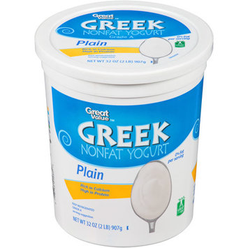 Great Value Plain Greek Nonfat Yogurt, 32 oz