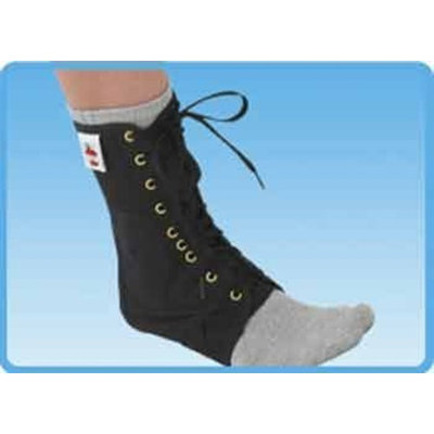 Core Products Lace Up Ankle Support in Black Size: Extra Small