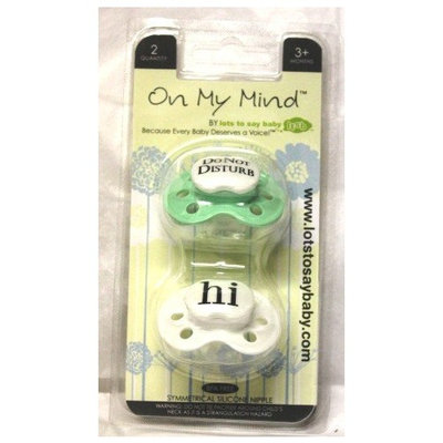 Booginhead On My Mind Do Not Disturb and Hi Pacifiers, Pink/White (Discontinued by Manufacturer)