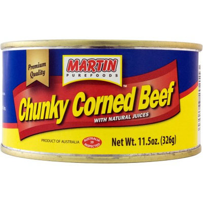 Great Value Martin Purefoods Chunky Corned Beef, 11.5 oz