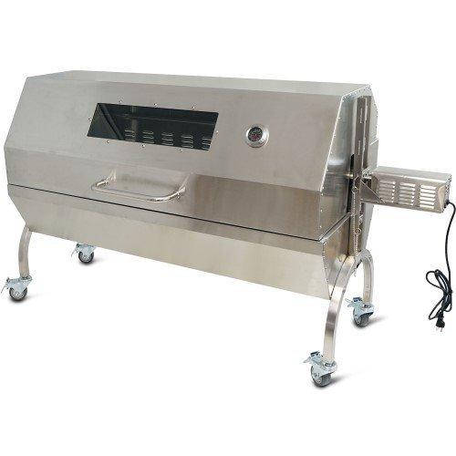 Titan Distributors Rotisserie Grill Roaster w/ Glass Hood Stainless Steel 25W 125LBS capacity BBQ