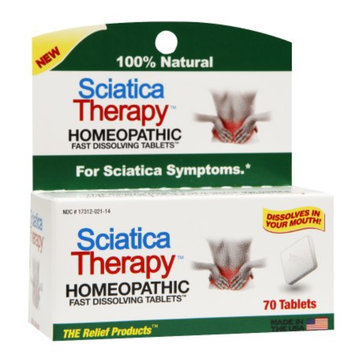 The Relief Products Sciatica Therapy Homeopathic Fast Dissolving Tablets, 70 ea