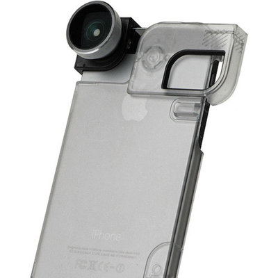 olloclip 4-in-1 Combo Lens for Apple iPhone 5/5S, Silver/Black