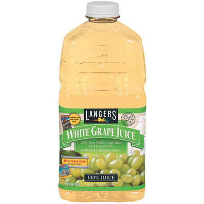 Langers WHITE GRAPE JUICE FROM CONCENTRATE (FILTERED WATER, WHITE GRAPE JUICE CONCENTRATE), AND ASCORBIC ACID (VITAMIN C).
