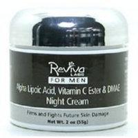 REVIVA Men's Alpha Lipoic Acid & DMAE Night Cream & Vitamin C Ester 2 oz