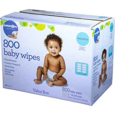 Babies R Us Unscented Value Box of Wipes - 800 Count