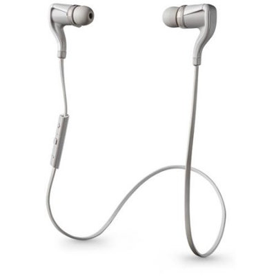 Plantronics BackBeat Go 2 Stereo Bluetooth Headset Sweat Proof Earbuds - White