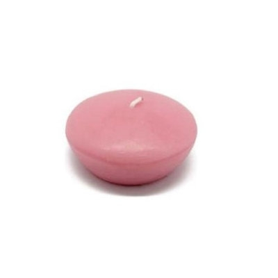 Zest Candle CFZ-048 3 in. Pink Floating Candles -12pc-Box