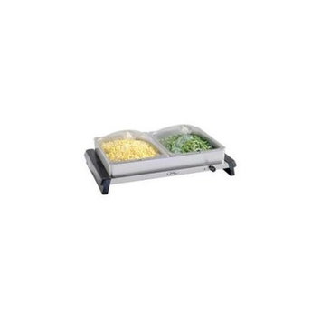 Broilking Professional Double Buffet Server, stainless Base, plastic