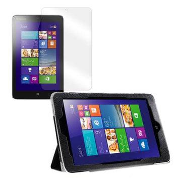 Black Tri-Fold Folio Case with Screen Protector for Lenovo Miix 2 8