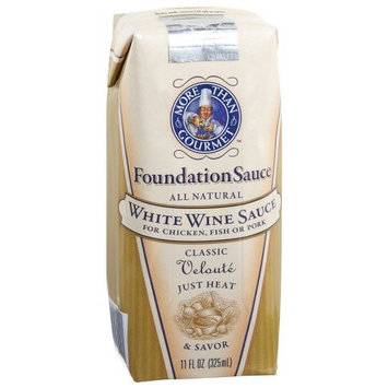 More Than Gourmet White Wine Foundation Sauce, Classic Veloute, 11-Ounce Packages (Pack of 6)