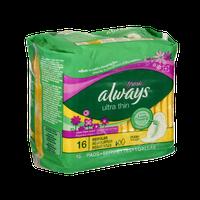 Always Fresh Ultra Thin Flexi-Wings Regular Pads - 16 CT