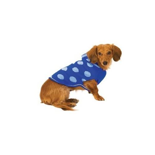 Fashion Pet Blue Spot Hoodie Dog Sweater Small