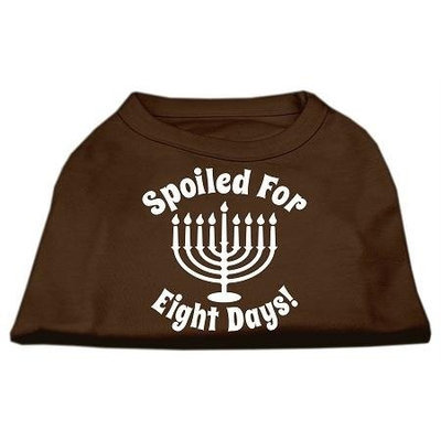 Ahi Spoiled for 8 Days Screenprint Dog Shirt Brown Med (12)