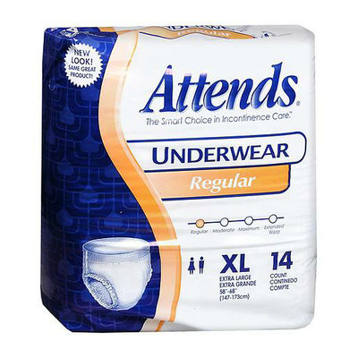 Attends Underwear Regular Moderate Absorbency Extra Large 58 inch - 68 inch