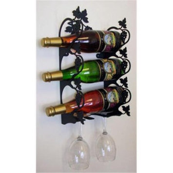 Village Wrought Iron WR-WM-157-S Small Wall Moutain Grapevine Wine Rack