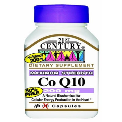21st Century Co Q10 200 Mg Capsules, 45-Count